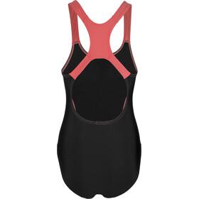speedo Gala Logo Medalist Swimsuit Damen black/orange